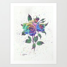 Magic roses Art Print