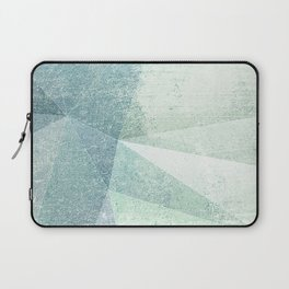 Frozen Geometry - Teal & Turquoise Laptop Sleeve