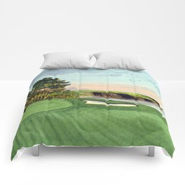 Pebble Beach Golf Course 5th Hole Comforters