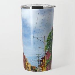 C for Cartagena Fun Cut Out Cartagena Street Print Travel Mug