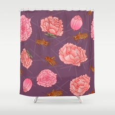 Carnations & Crickets Shower Curtain