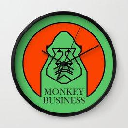 Monkey Business Green Wall Clock