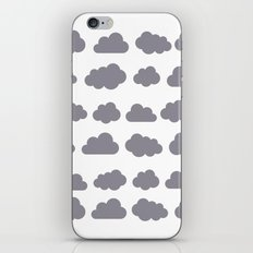 Grey clouds winter time art iPhone & iPod Skin
