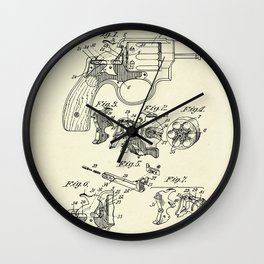 Safety Device for Revolving Firearms-1899 Wall Clock