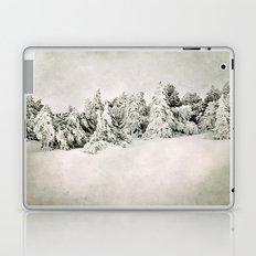 Snow time. Vintage Laptop & iPad Skin