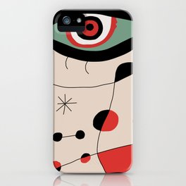 Tribute to J. Mirò (n.1) iPhone Case