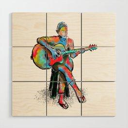 The guitarist Wood Wall Art