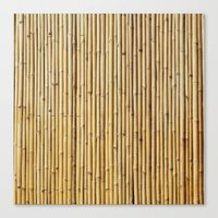 bamboo Canvas Prints featuring Bamboo by Patterns and Textures