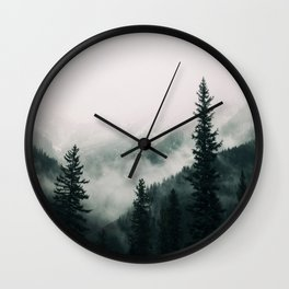 Over the Mountains and trough the Woods -  Forest Nature Photography Wall Clock