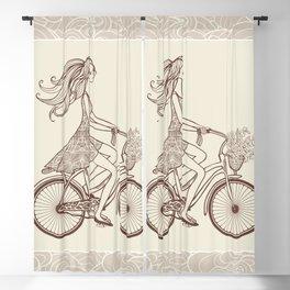 Bike Girl Blackout Curtain