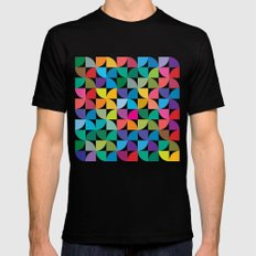 Geometrical work - Colours rotation MEDIUM Black Mens Fitted Tee