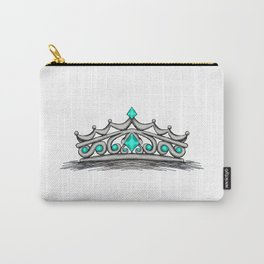 Turquoise Tiara Carry-All Pouch