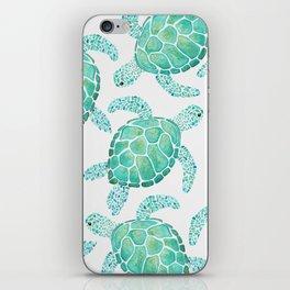 Sea Turtle Pattern - Blue iPhone Skin
