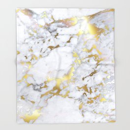 Original Gold Marble Throw Blanket