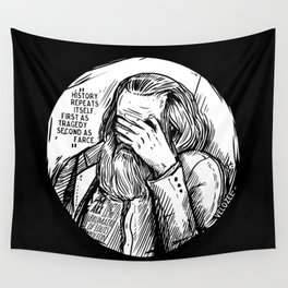 Facepalm Marx Wall Tapestry