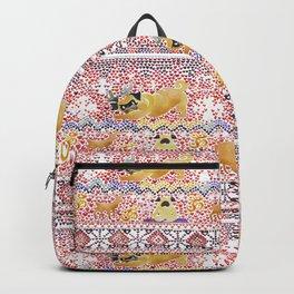 Xmas Pugs Yoga Watercolor Backpack