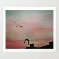 Red Sky at Night Sailor's Delight Art Print