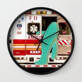 Cactus meets NYC 042 Wall Clock