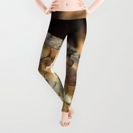 Watercolor Snake, Water Moccasin 02, Merchants Millpond, North Carolina Leggings