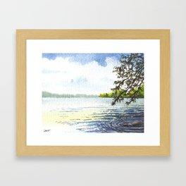 Lake Simcoe, Briars Association Beach, July Framed Art Print