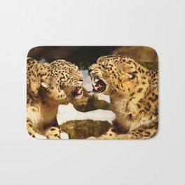 Snow Leopards Bath Mat