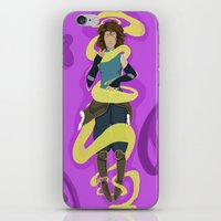 the legend of korra iPhone & iPod Skins featuring Korra by Ivrai