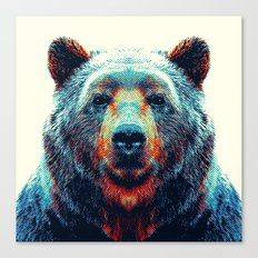 Bear - Colorful Animals Canvas Print