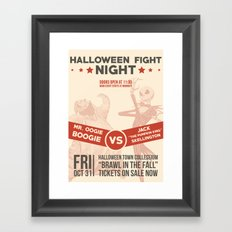 Brawl in the Fall! Framed Art Print