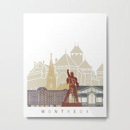 Montreux skyline poster Metal Print