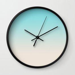 Ombre  digital illustration pastel colors 2 Wall Clock