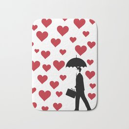 No Love Business Man Bath Mat