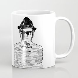 Elwood Blues Brothers Tattooed - 'Dry White Toast' Coffee Mug