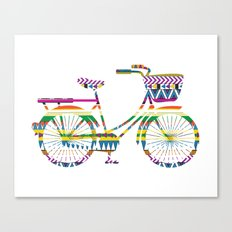Bicycle with Tribal Pattern Canvas Print