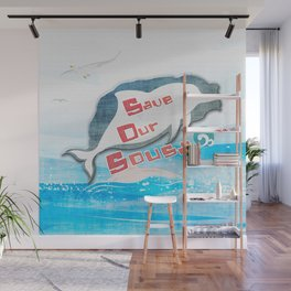 LOVE TAIWAN PINK DOLPHINS / SAVE TAIWAN PINK DOLPHINS Wall Mural