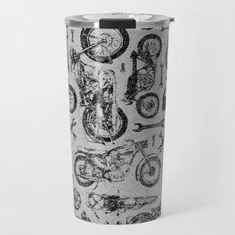 Vintage Motorcycle Pattern Travel Mug