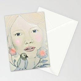 emma in blush Stationery Cards