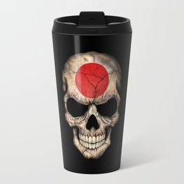 Dark Skull with Flag of Japan Travel Mug