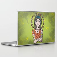 simpson Laptop & iPad Skins featuring Saint Simpson by A+A Noisome Art