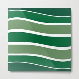 Green Striations  Metal Print
