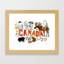 Oh Canada-150 Framed Art Print