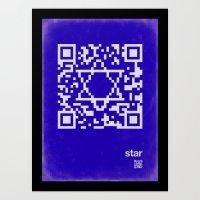 QR star Art Print