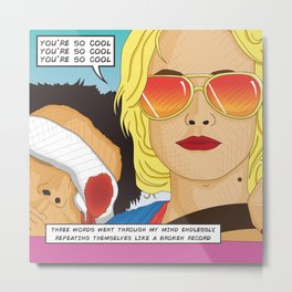 True Romance Comic Book Style Cushion Metal Print