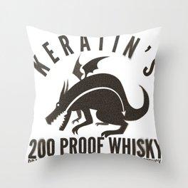 Keratin's Dragon Distilled Whisky Throw Pillow