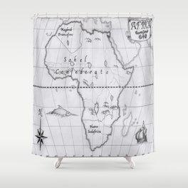 2062: African map Shower Curtain