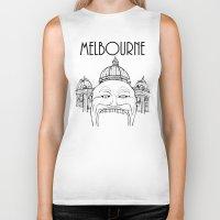 melbourne Biker Tanks featuring Melbourne by Jeremy Buckley illustration