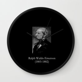 portrait of Ralph Waldo Emerson Wall Clock