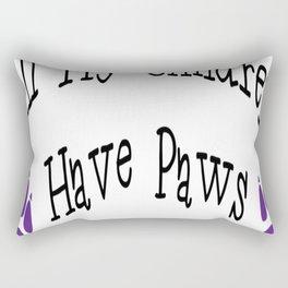 All My Children Have Paws Rectangular Pillow