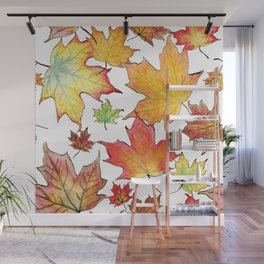 Autumn Maple Leaves Wall Mural