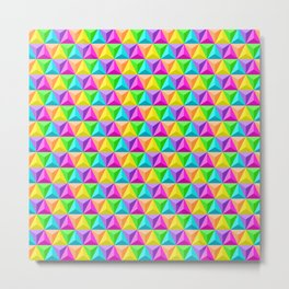 Rainbow Geodesic Metal Print