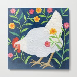 White Chicken #2 Metal Print